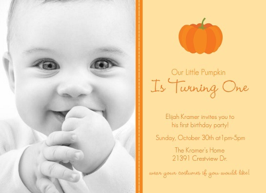 October First Birthday Invitations From PurpleTrail
