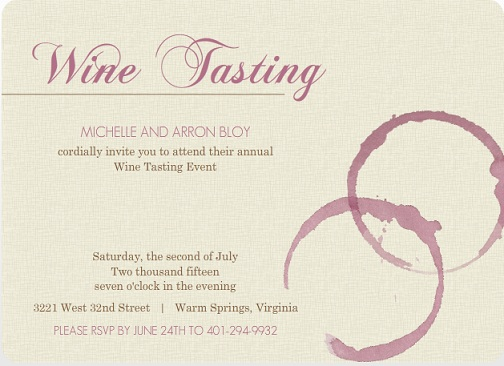 wine party invitations from purpletrail
