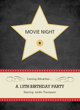 movie night invitations from purpletrail