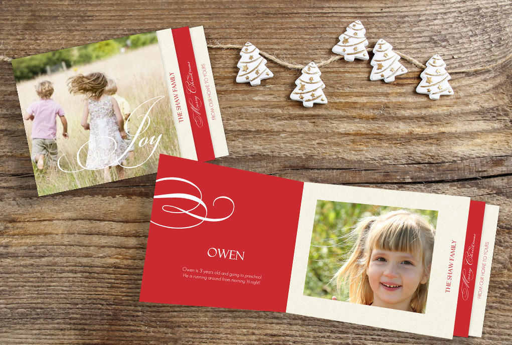 Vintage Christmas Cards With Personalized Wording, Photos, & More