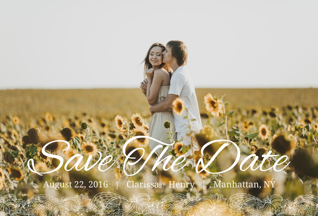 Country Save The Date Ideas: Rustic Photo Ideas & Wording Samples