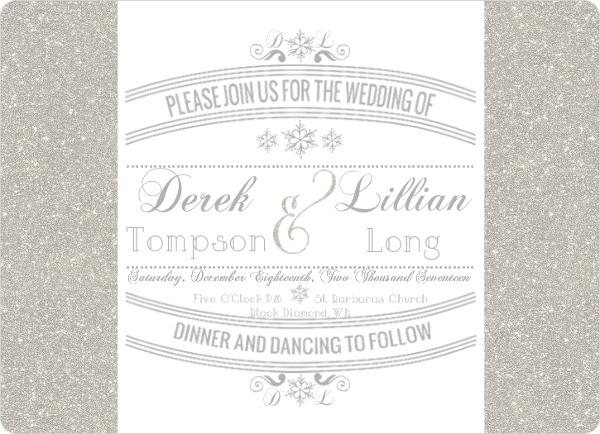 Winter Wedding Invitation Wording, Winter Wonderland & Holiday Themes
