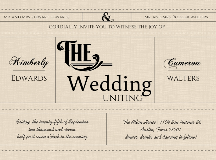 Vintage Wedding Invitation Wording Theme Ideas Retro Styles By Era
