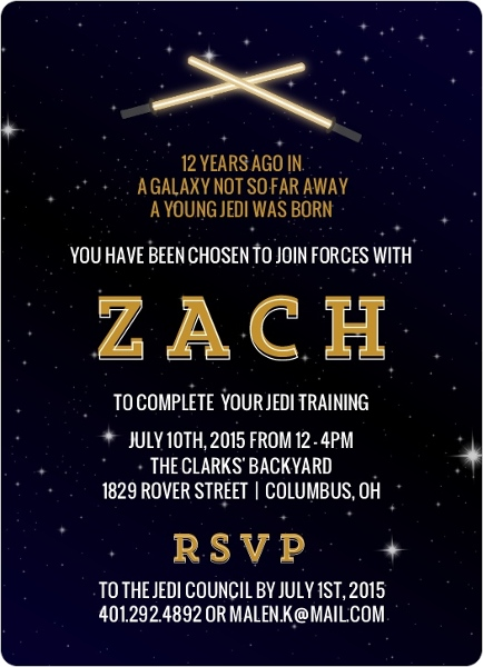 Star Wars Birthday Party Ideas Invitations Activities Crafts DIY - Star wars birthday invitation diy