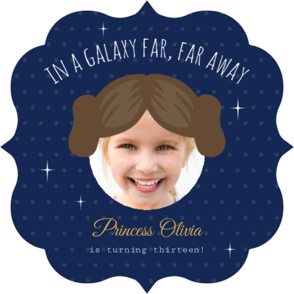 Princess Leia Cut Out Star Wars Birthday Invitation By PurpleTrail
