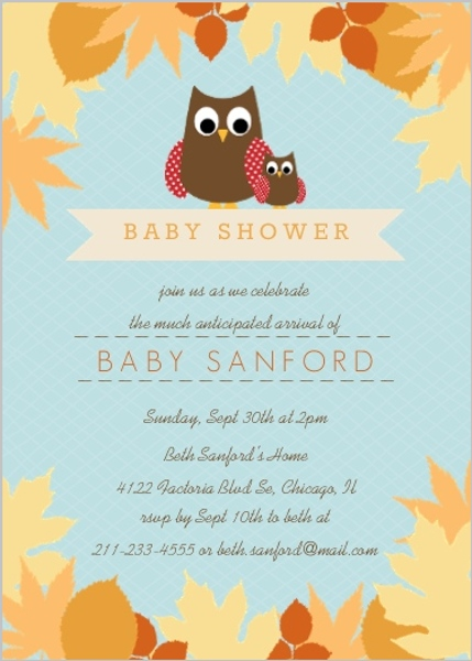 Fall Baby Shower Ideas Invitations Invite Wording Themes DIY Decor - Baby girl shower invitation wording