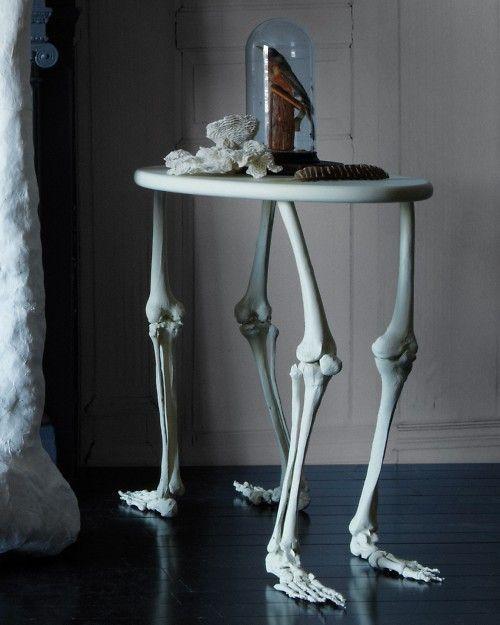 DIY bone table by MarthaStewart.com.