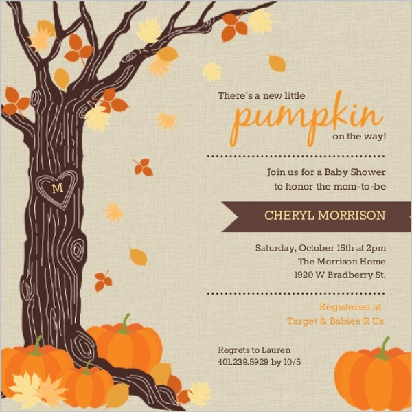 Fall Baby Shower Ideas Invitations Invite Wording