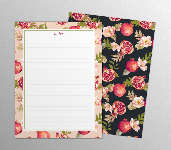 beautiful-pomegranate-pattern-notepads