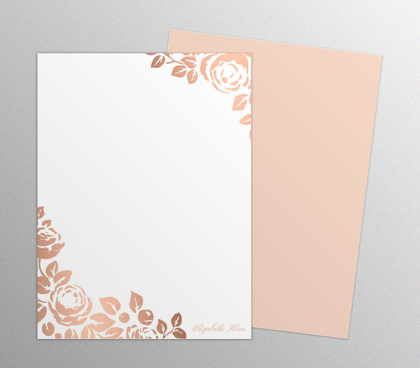 rose-gold-faux-foil-floral-notepads