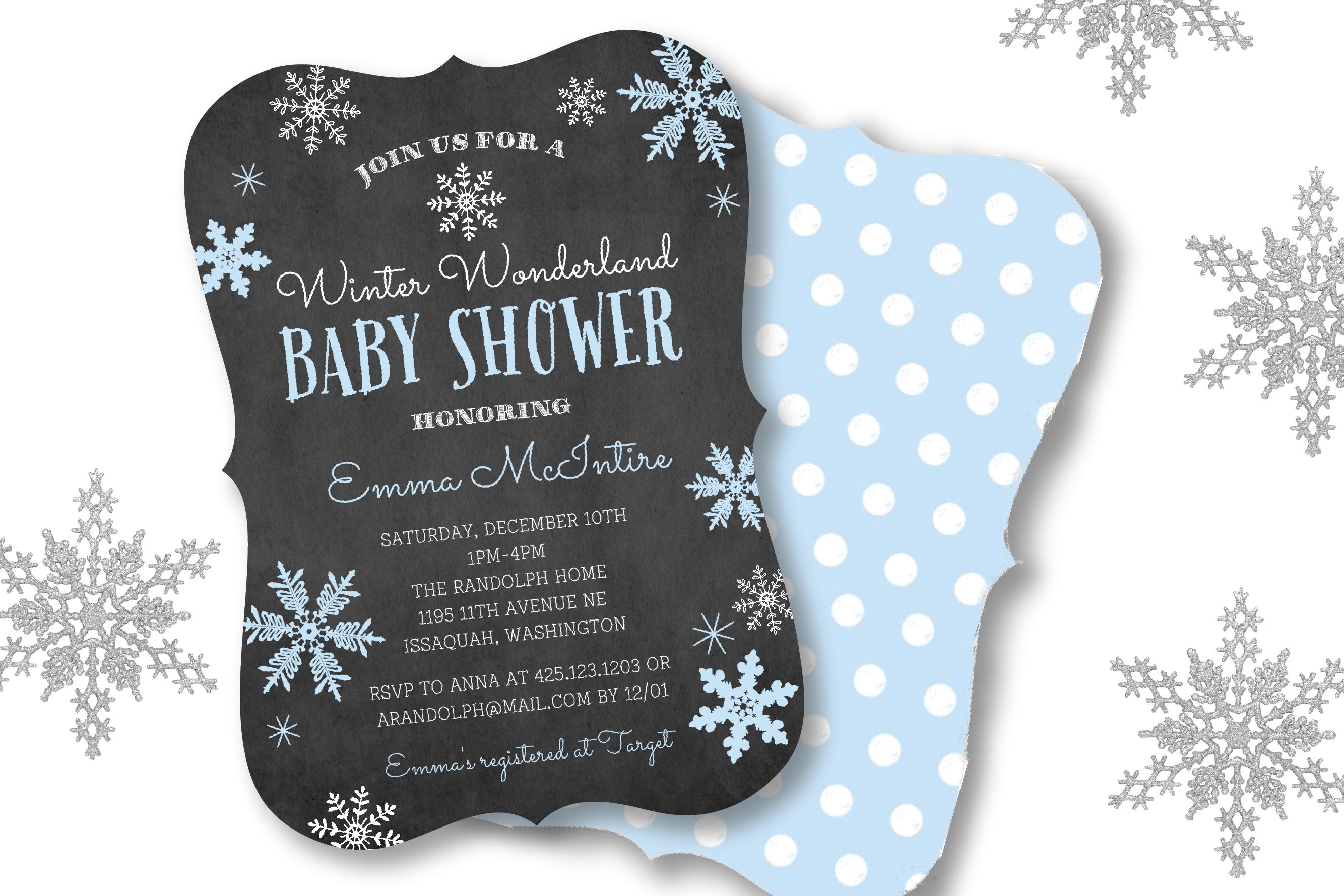 winterwonderlandbabyshower 01 - Christmas Themed Baby Shower