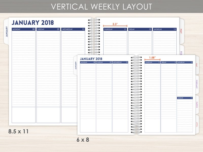 new weekly planner layout options