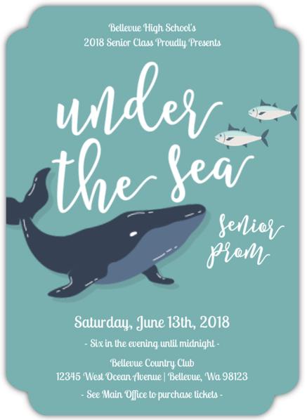 Under the Sea prom invitation