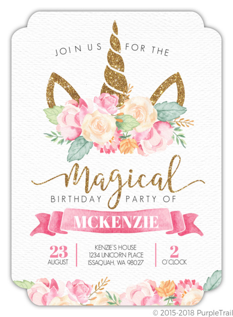 And Theyre Not Just For Birthdays Invitations A Unicorn Baby Shower Bridal Spa Party More
