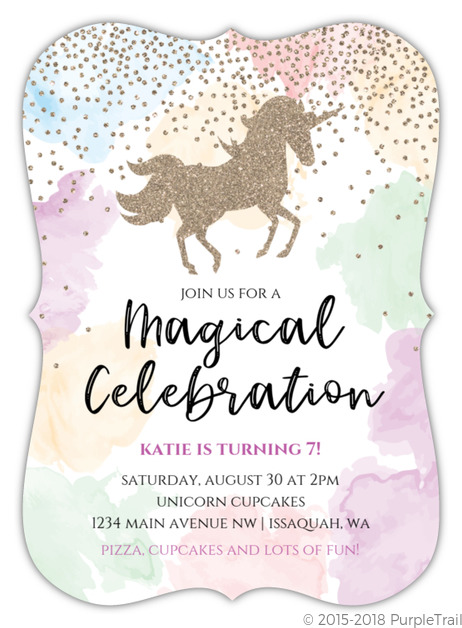 Unicorn Party Invitations, Ideas and More | PurpleTrail