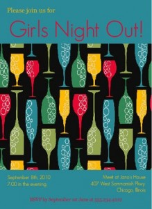 Bubbly Cocktails Girls Night Out Invitation