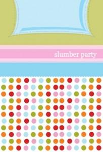 Polka Dots And Pillows Slumber Party Invitation slumber party movies