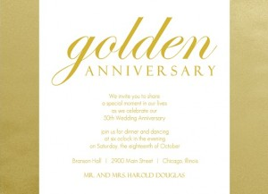 50th wedding anniversary program ideas