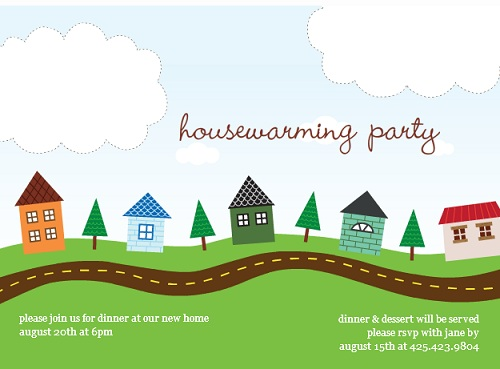 Partytrail party planning tools and information page 2 our town housewarming party invitation stopboris Choice Image