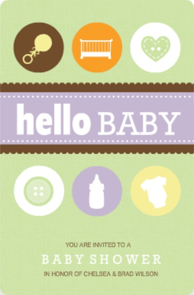 Baby Icons (Set) Neutral Baby Shower Invitation Printable Baby Shower Games