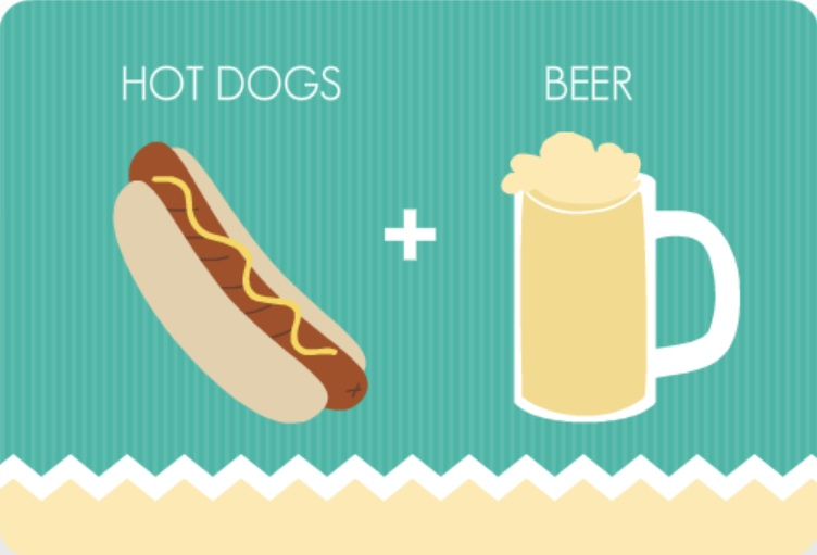 Beer and Hotdogs Turquoise BBQ Tips Invitation