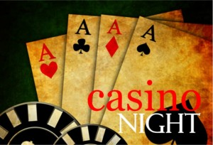 Casino Night Aces High Card Invitation Adult Card Games