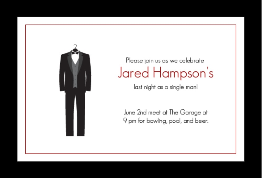 Classy Bachelor Party Invitation funny toast ideas