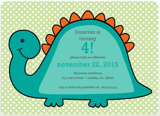 Dino Birthday Party Invite