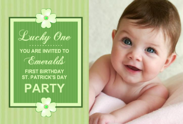 First Birthday St. Patrick's Day Party Invite Kids St. Patrick's Day Party Ideas