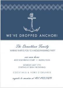 Housewarming party ideas from purpletrail navy nautical anchor housewarming party ideas invitation stopboris Choice Image