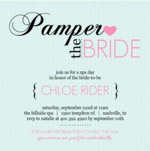 Pampered Pink Blue Bridal Shower Invitation By PurpleTrail