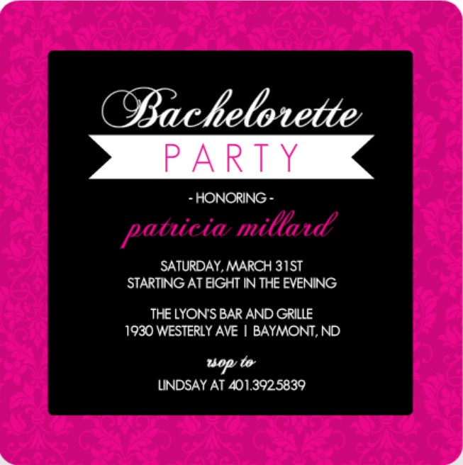 bachelorette party invitations free template