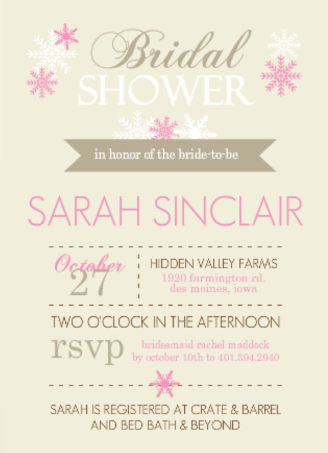 pink modern bridal shower invitation free bridal shower games