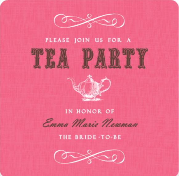 Pink Vintage Tea Pot Tea Party Food Ideas