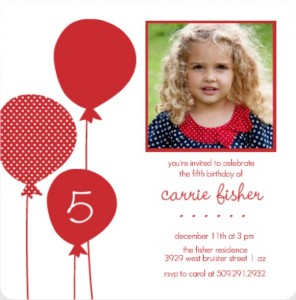 Red Balloons Holiday Birthday Invitation Wacky Birthday Party Ideas