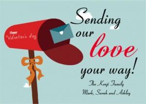 Sending Love Valentines Card wording ideas