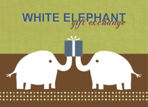 White elephant gift exchange ideas for parties from purpletrail white elephant gift exchange ideas invitation negle Choice Image