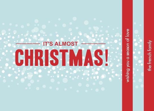 christmas letter idea - timeline cards