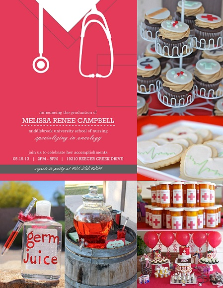 Nursing Graduation Invitations And Party Ideas