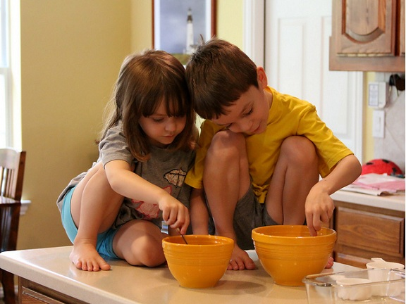Kids Cooking At Home