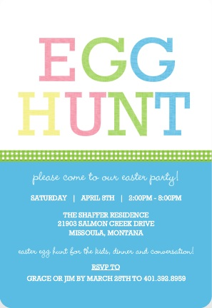 Spring Easter Egg Hunt Party Invitation