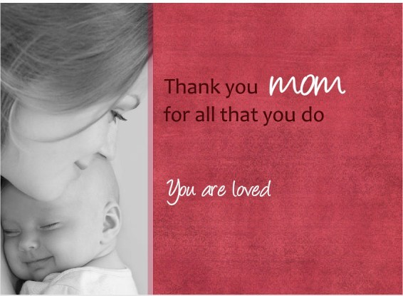 Thank You Mom Mother's Day Card