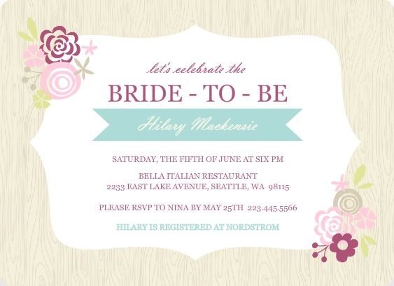 Bridal shower theme ideas bridal shower party planning pink floral frame bridal shower invite filmwisefo Images