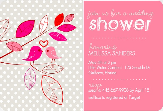 Whimsical Birds Couples Shower Invitation