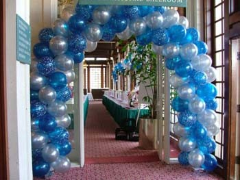 Class reunion decoration ideas from purpletrail for Balloon decoration business