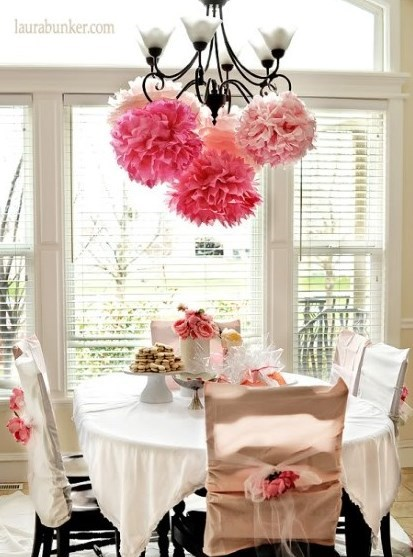 Tea party decorated table