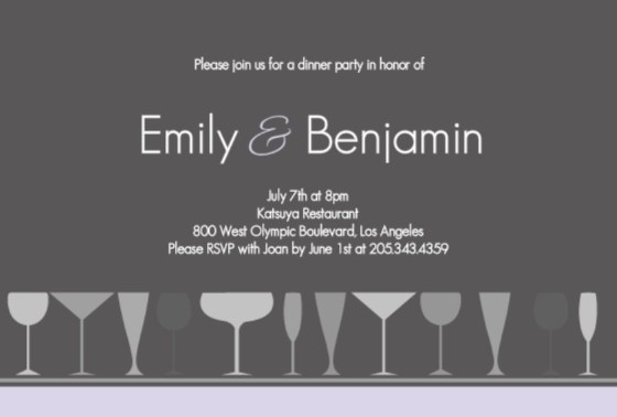 Formal dinner party tips from purpletrail formal dinner invitation by purpletrail stopboris Gallery