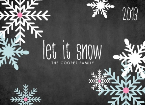 let it snow photo card