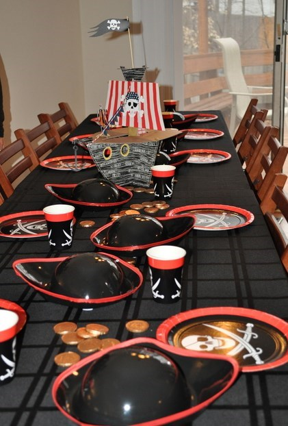ahoy matey step aboard for a pirate birthday party purpletrail. Black Bedroom Furniture Sets. Home Design Ideas