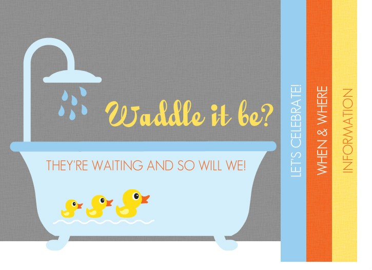 Unique baby shower games fun easy smart rubber ducky themed gender neutral baby shower invitation by purpletrail filmwisefo